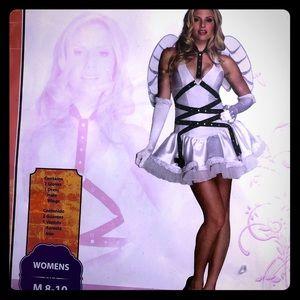 Sexy white angel cosplay Halloween costume